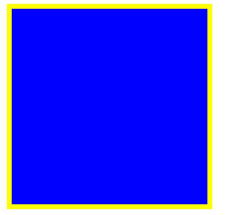 一个空白 canvas,但由于背景样式而变得可见
