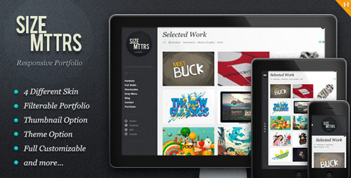 01 size mttrs responsive portfolio wordpress theme in 25 New Portfolio WordPress Themes from ThemeForest