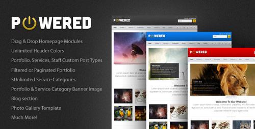 03 powered business portfolio wordpress theme in 25 New Portfolio WordPress Themes from ThemeForest