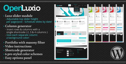 04 openlux wordpress theme in 25 New Portfolio WordPress Themes from ThemeForest