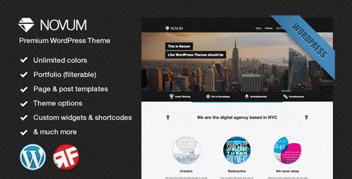 06 novum premium wordpress theme in 25 New Portfolio WordPress Themes from ThemeForest