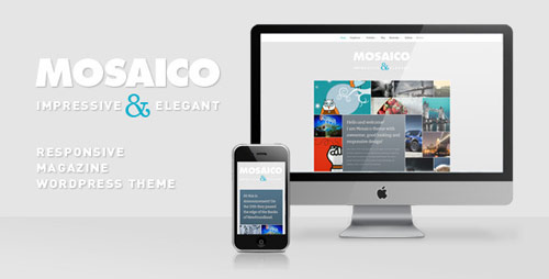 05 mosaico unique magazine wordpress theme in 25 New Portfolio WordPress Themes from ThemeForest