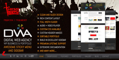 07 dwa premium business porfolio wordpress theme in 25 New Portfolio WordPress Themes from ThemeForest
