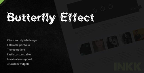 13 butterfly effect business portfolio wordpress theme in 25 New Portfolio WordPress Themes from ThemeForest