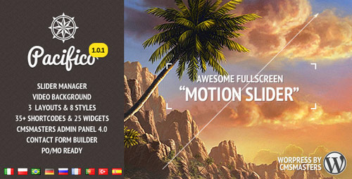15 pacifico fullscreen wp theme motioneffect in 25 New Portfolio WordPress Themes from ThemeForest