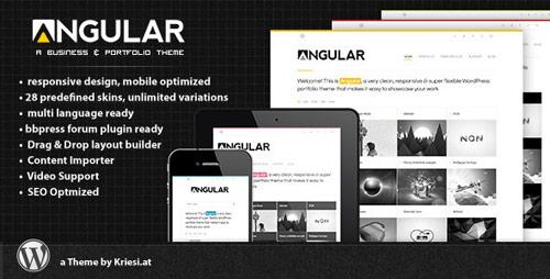 17 angular responsive portfolio wordpress theme in 25 New Portfolio WordPress Themes from ThemeForest
