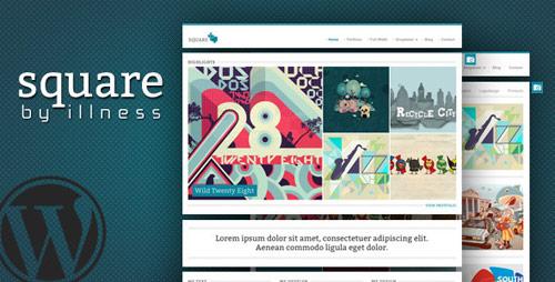 21 square agency freelancer portfolio wordpress theme in 25 New Portfolio WordPress Themes from ThemeForest