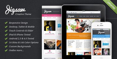 22 jigsaw responsive wordpress theme in 25 New Portfolio WordPress Themes from ThemeForest