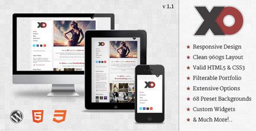 24 xo responsive creative wordpress theme in 25 New Portfolio WordPress Themes from ThemeForest