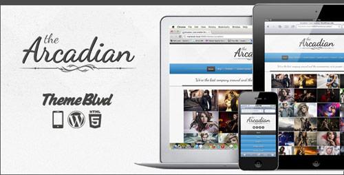 25 the arcadian responsive wordpress theme in 25 New Portfolio WordPress Themes from ThemeForest
