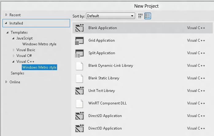 "Visual Studio""新建项目""对话框"