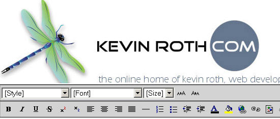 Kevin Roths Cross Browser Rich Text Editor