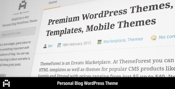 A - Personal Blog WordPress Theme