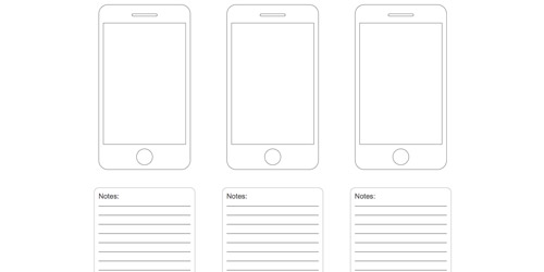 iPhone Wireframe Templates for Sketching