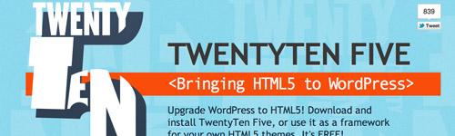 TwentyTen Five HTML5 Base Theme