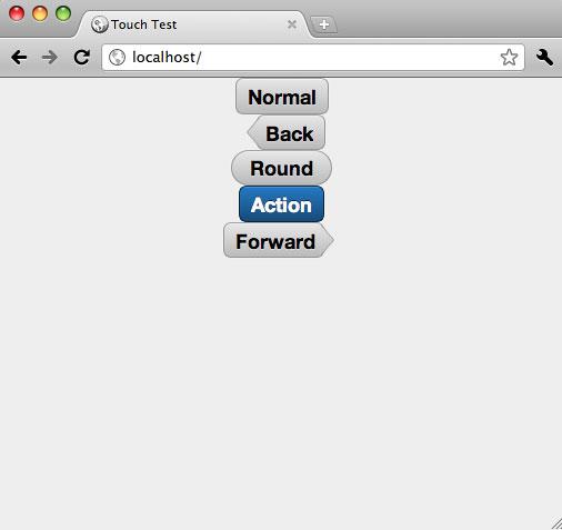 执行清单 5 所示代码的的屏幕截图,显示提供的所有按钮样式