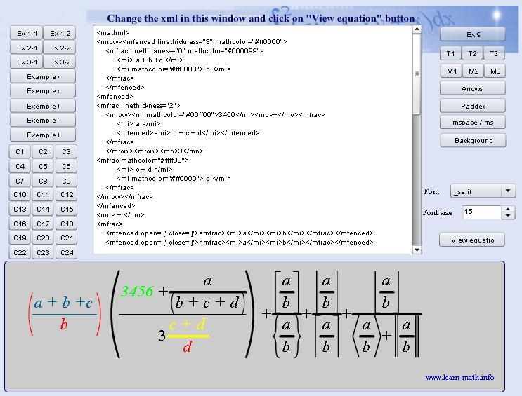 MathML Formula