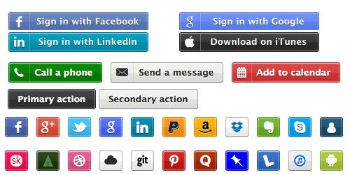 Zocial Social Media Buttons