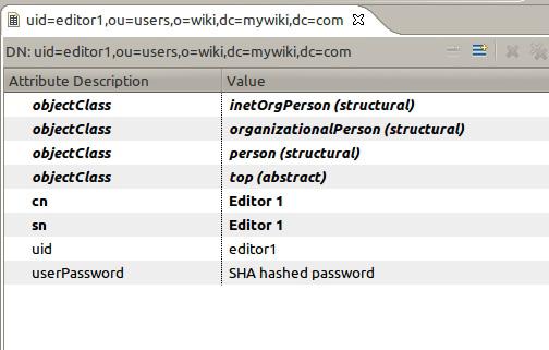 在 LDAP 浏览器中查看新用户