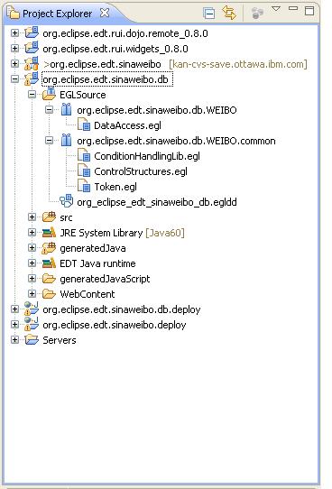数据库访问服务项目的目录结构