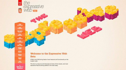 the expressive web in HTML5 Websites: 10 Flash Killing Examples