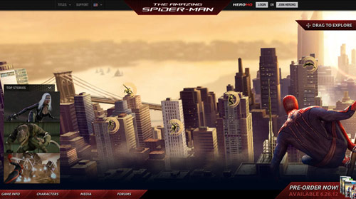 spiderman in HTML5 Websites: 10 Flash Killing Examples