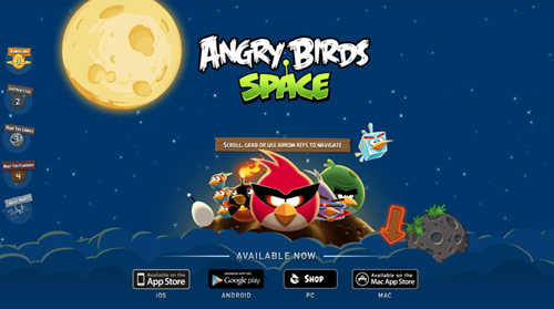 angry birds space in HTML5 Websites: 10 Flash Killing Examples