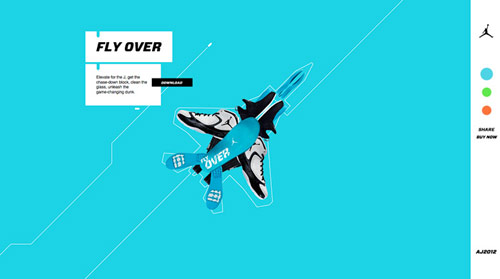 nike air jordan in HTML5 Websites: 10 Flash Killing Examples