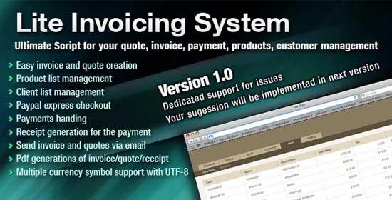 Lite Invoicing System