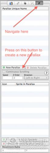 navigateToParallaxAndCreateNew
