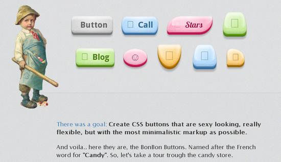Bon Bon Sweet CSS3 Buttons