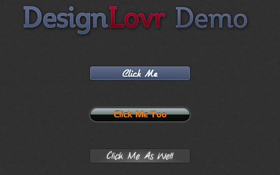 Beautiful Photoshop-like Buttons with CSS3