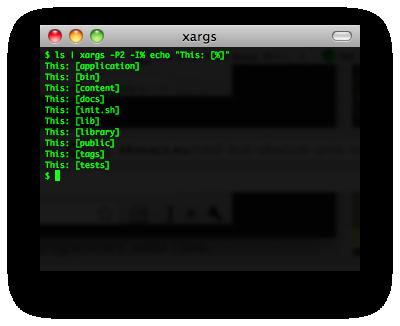 xargs screenshot