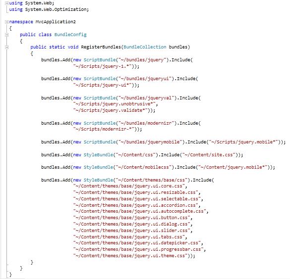 ASP.NET MVC 4 Structure