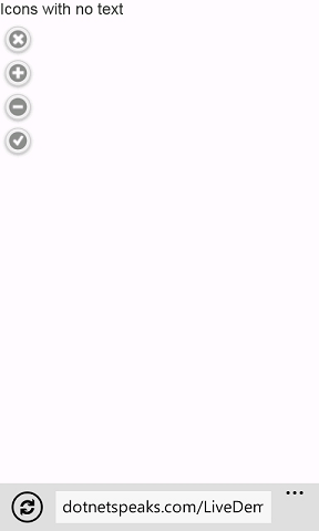 jQuery Mobile - Button with no text