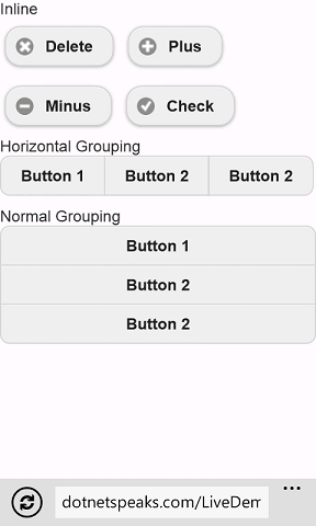 jQuery Mobile Button Inline and Button Grouping