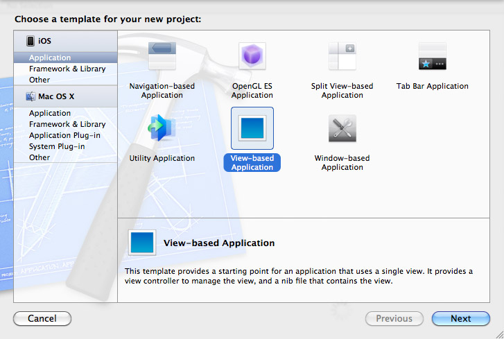 Create an application project.