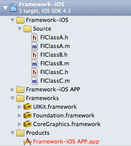 Create your framework classes.