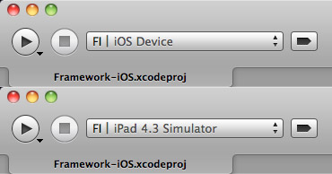 Compile the framework target twice: iOS Device and Simulator.