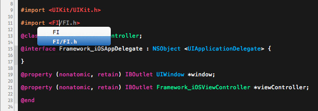 Xcode knows your public headers and can use them in the Code Completion.