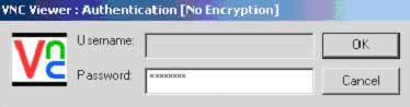 VNC viewer:输入密码