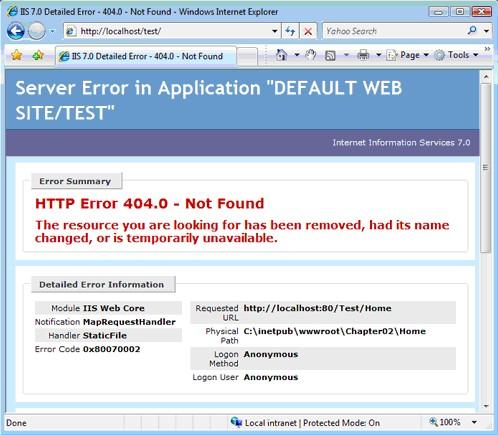 旧版本的IIS不会把这样的请求传递给ASP.NET框架