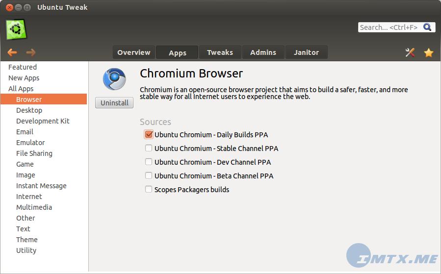 Ubuntu Tweak 0.8 preview 2