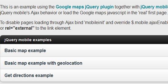 Google maps v3 plugin for jQuery UI and jQuery Mobile