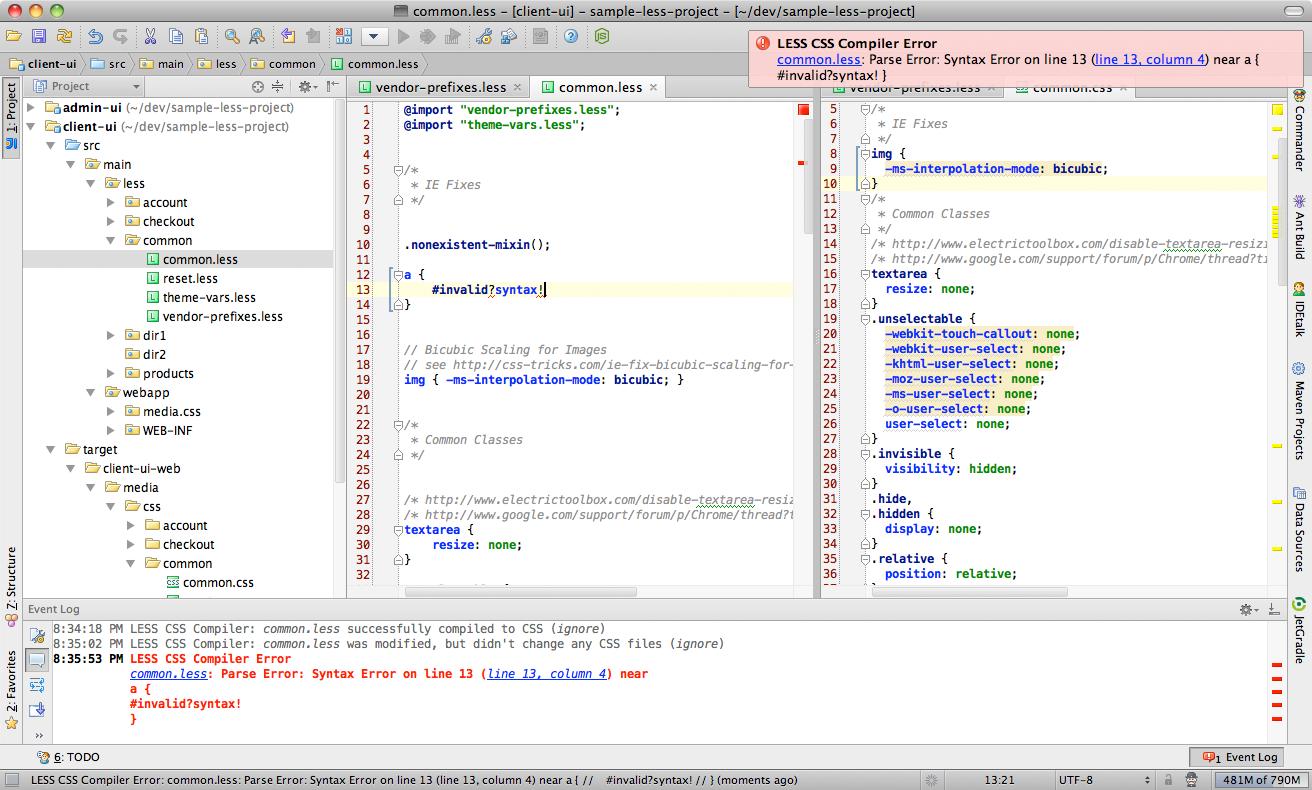 LESS CSS Compiler