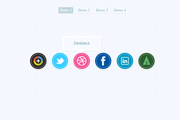 website icons webdesign tooltips hover effect