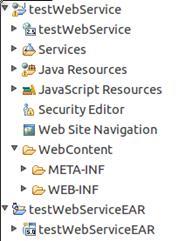 图 4 Web 项目以及应用项目的结构