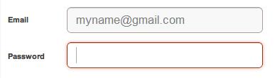 CSS3 Pinterest input fields box shadow design