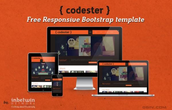免费的响应式Bootstrap模板 - Codester