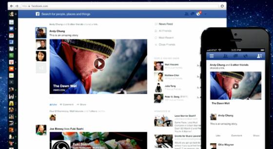 Facebook周四发布了以移动设备为目标的最新News feed(信息流)功能。